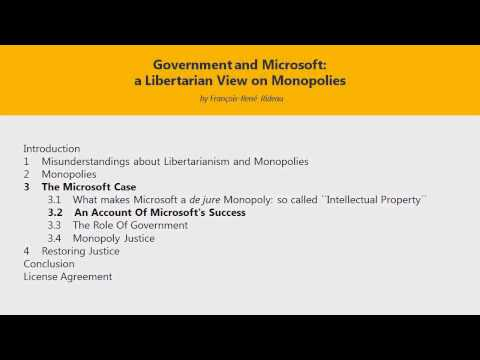 "The Microsoft Monopoly and ""Intellectual Property"""