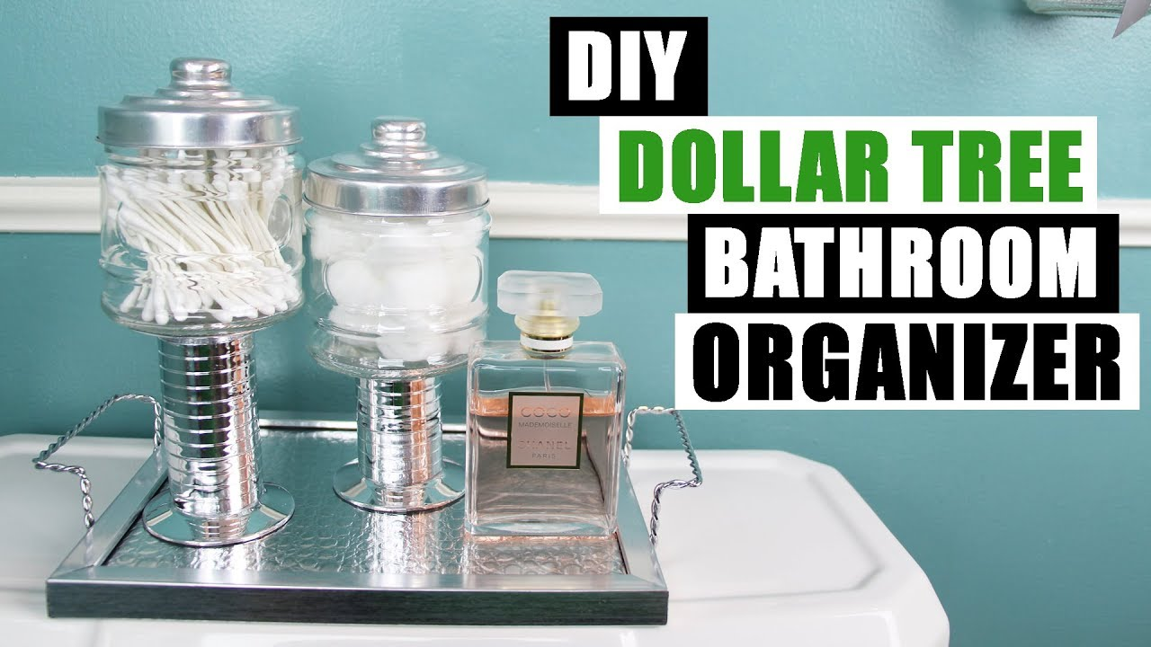 Diy dollar tree bathroom or vanity organizers and tray diy for Bathroom decor dollar tree