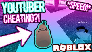 I CAUGHT A YOUTUBER SPEED GLITCHING IN ROBLOX JAILBREAK!!! *NOT CLICKBAIT*