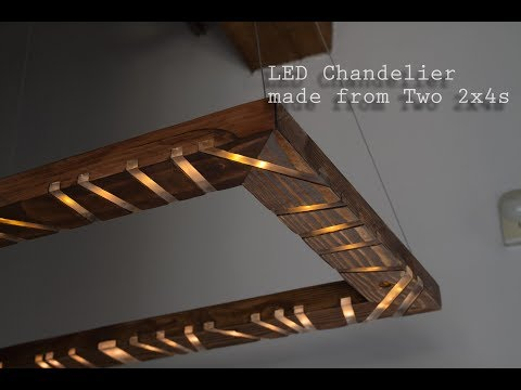 How to Make an LED Chandelier with Music Visualizer out of 2x4s  -- #Two2x4Challenge