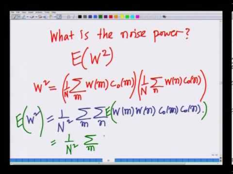 Mod-01 Lec-15 Correlation of PN Sequences and Jammer Margin
