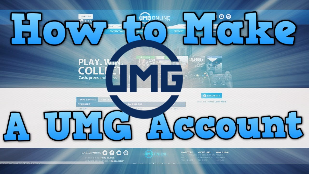 How To Create a UMG gaming account