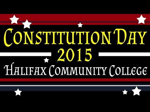 Constitution Day 2015 - Halifax Community College