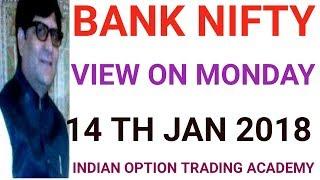 BANK NIFTY VIEW ON MONDAY 14 TH JAN 2019