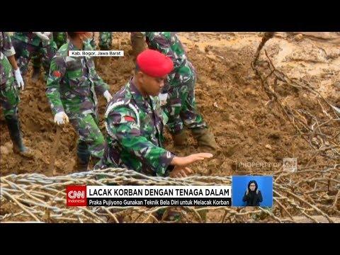 Kopassus Lacak Korban Longsor CIjeruk Dengan Tenaga Dalam - TNI AD