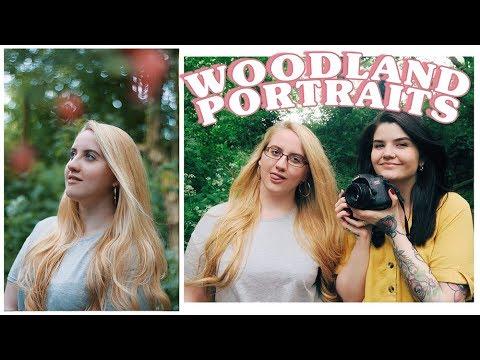 shooting woodland portraits 📷🌿 photography vlog