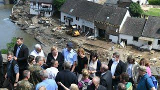 Inondations en Europe : au moins 183 morts, Angela Merkel va se rendre au chevet des victimes