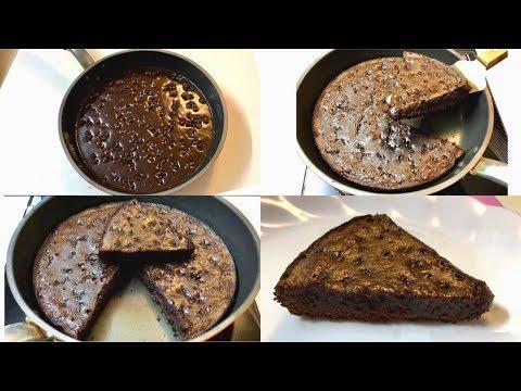 Brownie In Fry Pan - Chewy & Fudge Brownie In Pan Easy Steps