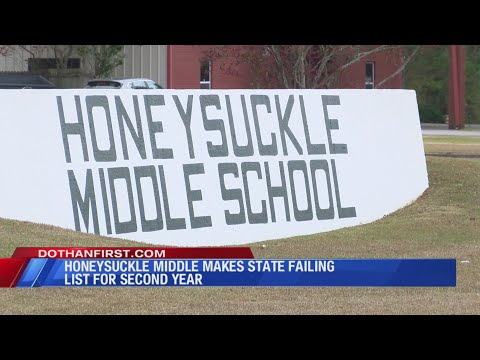 Honeysuckle Middle School makes state school failing list for second year