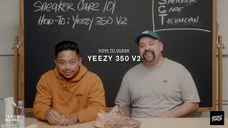 SNEAKER CARE 101: HOW-TO CLEAN YEEZY 350 V2