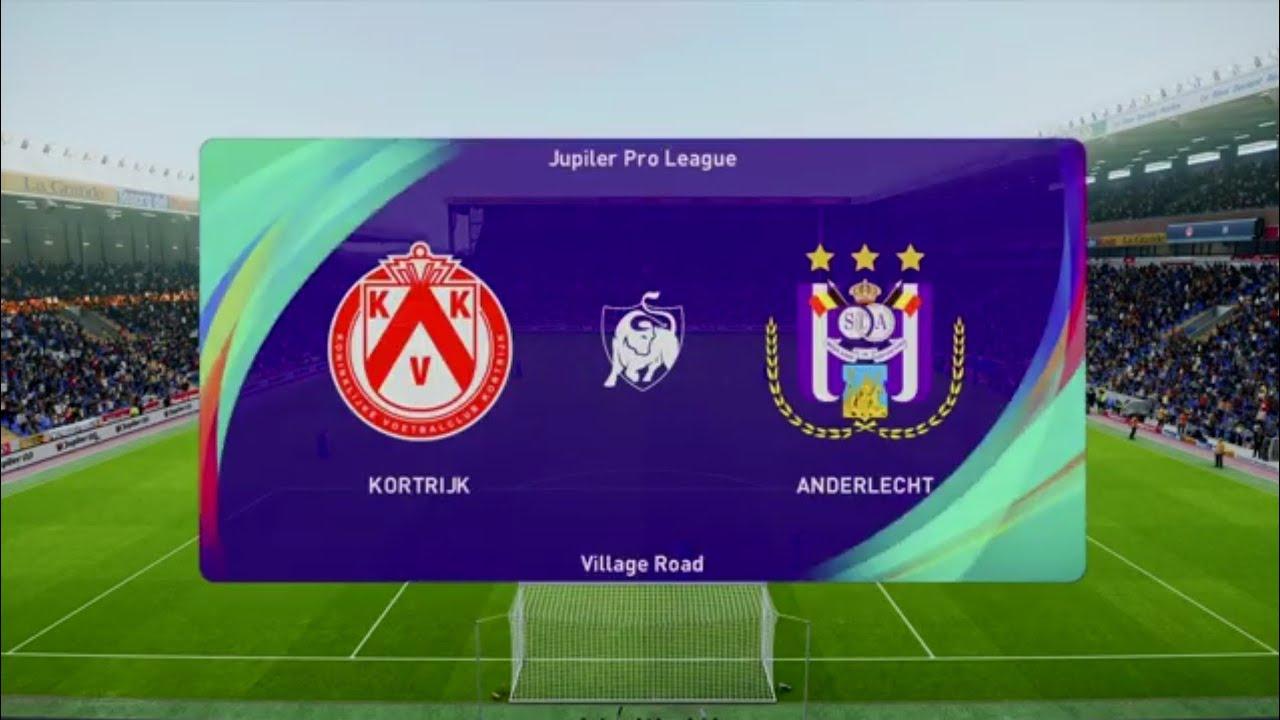 Kortrijk KV vs SC Anderlecht | PES 21 Jupilar Pro League Live Gameplay -  YouTube