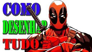 Como desenhar o Deadpool da Marvel Comics How to draw the Deadpool from Marvel Comics