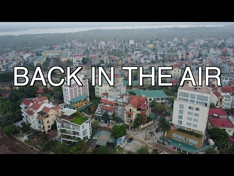 HANOI VIETNAM FROM A DRONE