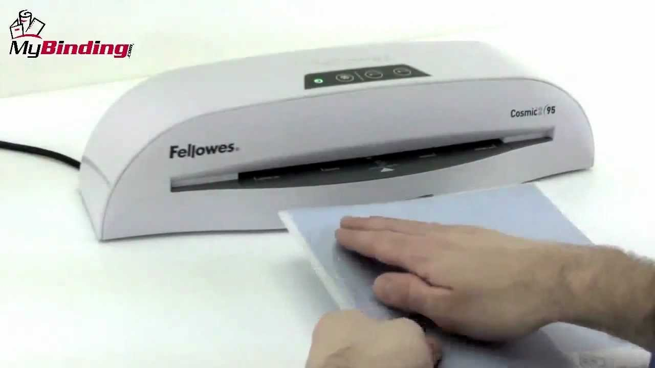 Fellowes Cosmic 2 95 Pouch Laminator Demo Video Youtube
