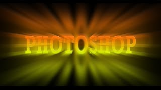 Light Burst Text Effects in Photoshop - Photoshop Tutorial in …