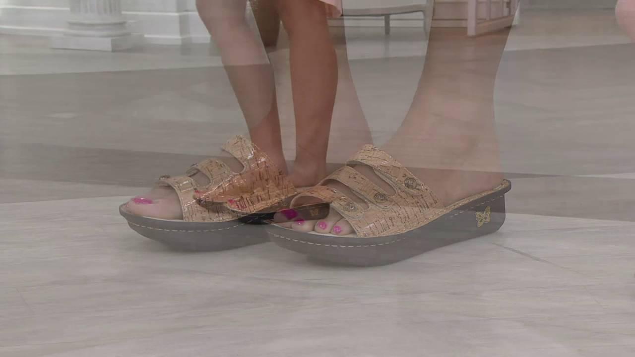 2582411f5951 Alegria Printed Triple Strap Sandals - Fiona on QVC - YouTube
