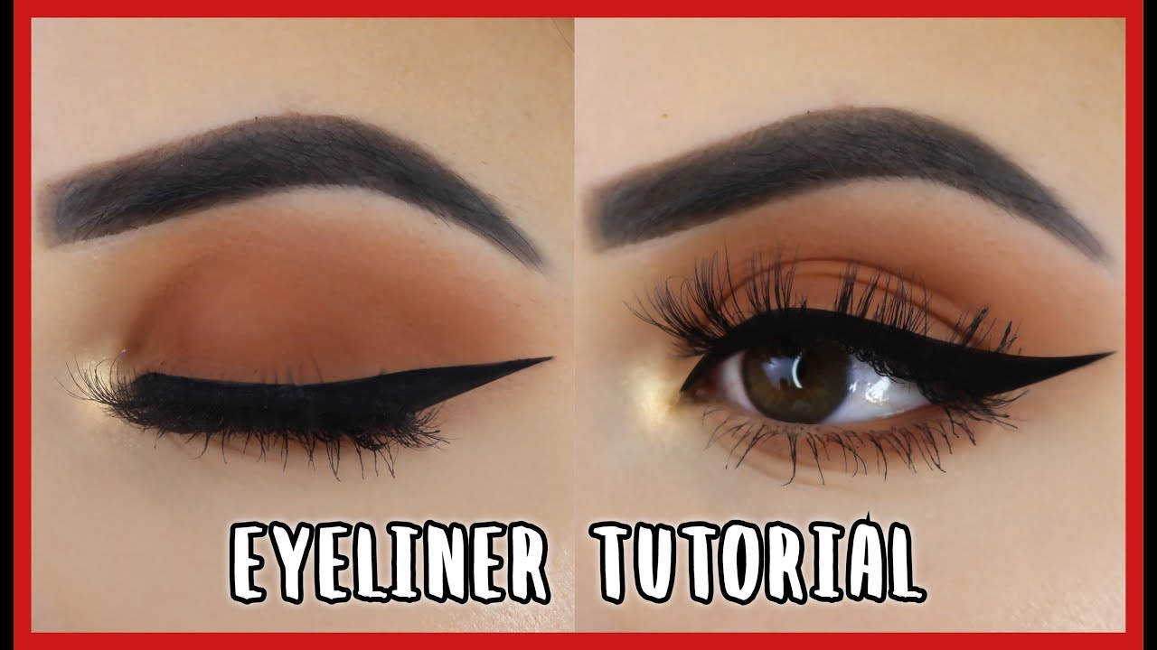 eyeliner tutorial perfect winged liner einfach und f r. Black Bedroom Furniture Sets. Home Design Ideas