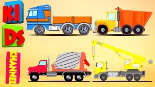 lets build | construct a house | construction vehicles for kids