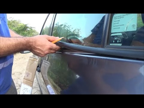 2007-2013 Toyota Corolla How to replace Weatherstrip Window Moulding Trim Seal Belt Yiannis Pagonis