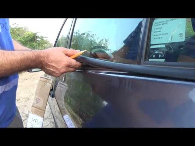 2007 2013 Toyota Corolla How To Replace Weatherstrip Window Moulding Trim Seal Belt Yiannis Pagonis Youtube