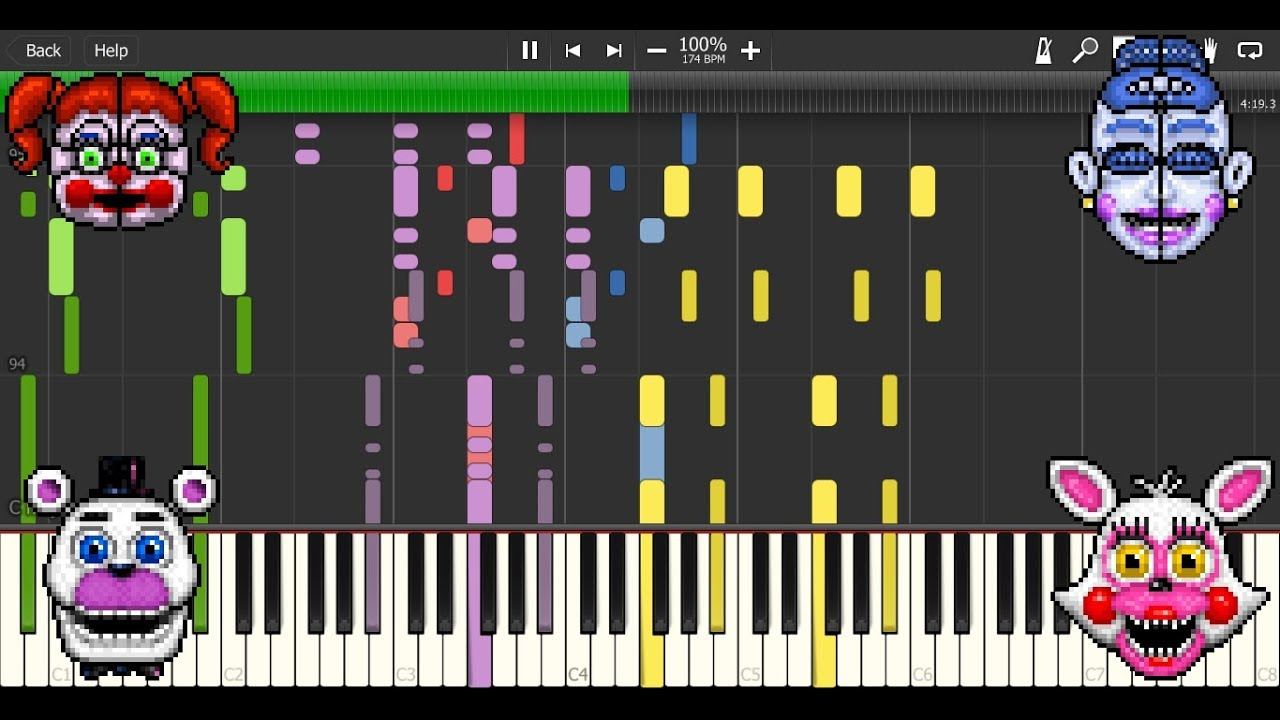 I Can't Fix You MIDI re-creation