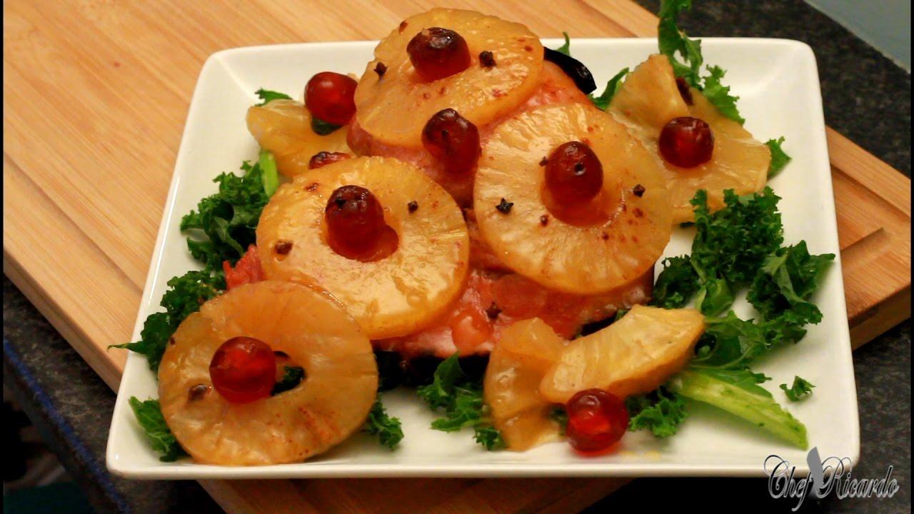 Christmas Ham Dinner.Pineapple Honey Glazed Ham For Christmas Dinner I Christmas Ham Recipes By Chef Ricardo