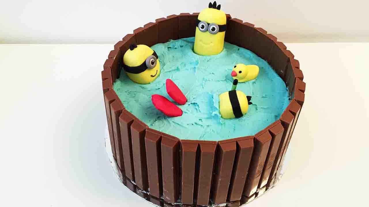 Hot Tub Minion KitKat Cake Cheeky Crumbs YouTube