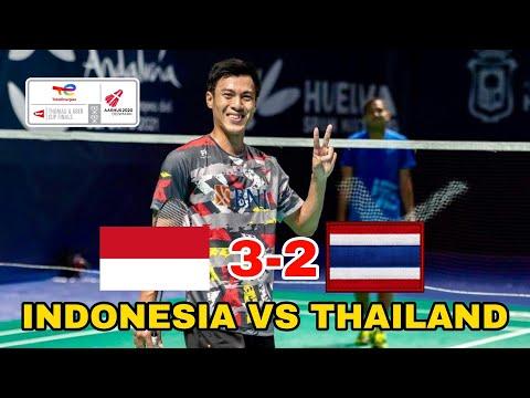 Hasil Thomas Cup 2021 Indonesia vs Thailand, Shesar Hiren Rhustavito Bawa Kemenangan Indonesia! thumbnail
