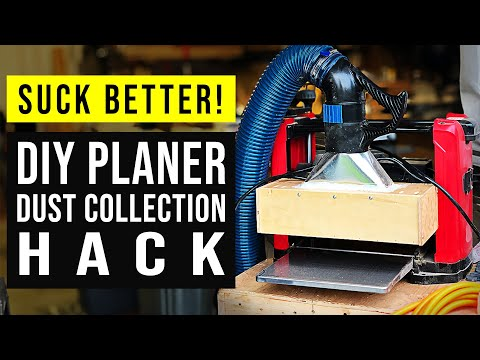 Fix Your Planer Dust Collection // Woodworking Shop Hack