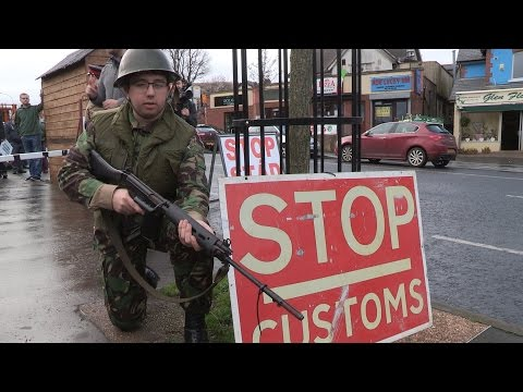Brexit defiance on show at West Belfast protest