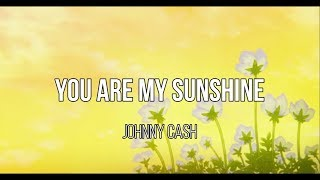 Johnny Cash - You are my sunshine / sub español - lyrics