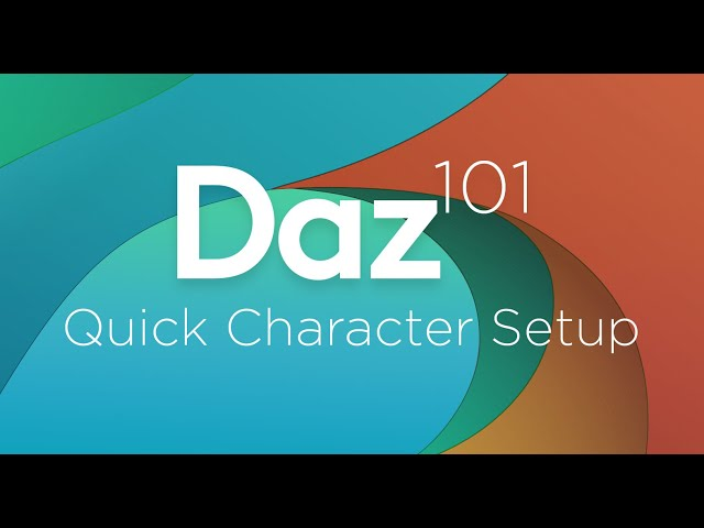 Daz 3D Tutorial: Quick character setup