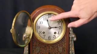 Chelsea 1920's Ram Head Mantel Clock S-17959