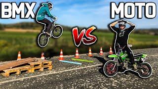 BMX vs MOTO qui sautera le plus loin ?!