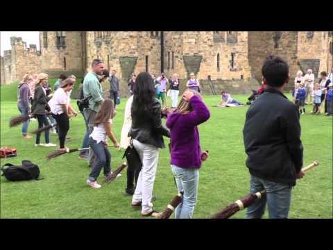 BROOMSTICK TRAINING AT ALNWICK CASTLE.