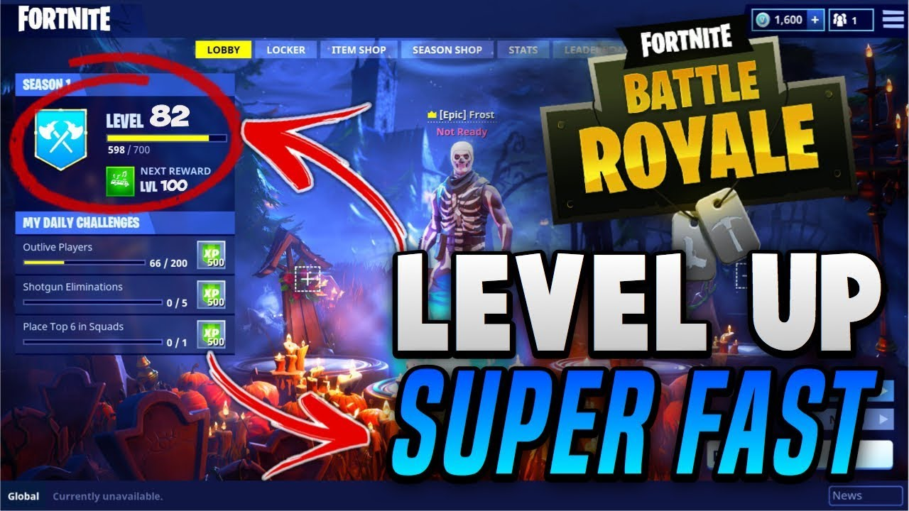 How To Level Up Super Fast Fortnite Battle Royal Youtube