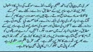 Garmi Mein Roza Rakhne Ka Asan Tarika  Ramadan Fasting Tips Urdu Video روزے میں پیاس سے بچیں   YouT