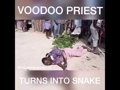 Haitian Voodoo Priest turns into snake (Tribe Of Levi)