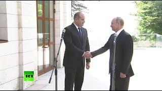 Путин провёл встречу с президентом Болгарии Радевым
