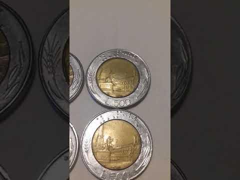 3500€ DEFECT  ALL 500 LIRA ITALY 1984,1987,1988,1989