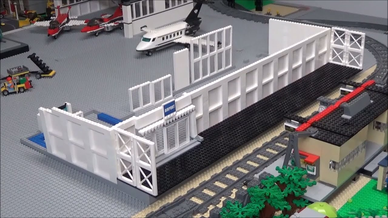 Lego Airport Terminal Update 1 Basic Structure Plans Youtube