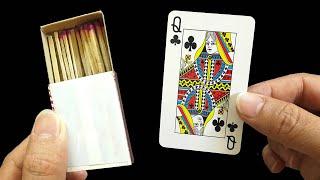 Коробка спичек и карточки - один из лучших фокусов