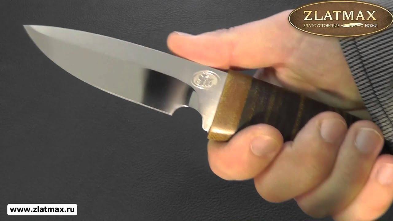 Видео Нож Гепард (ЭИ-107, Наборная кожа, Текстолит)