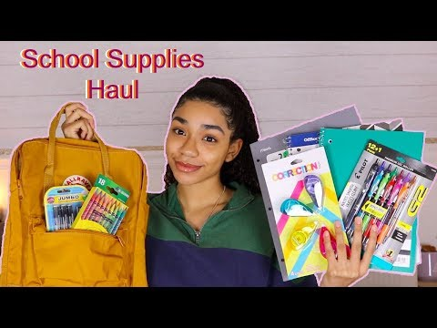 My Back To School Supplies Haul *2019