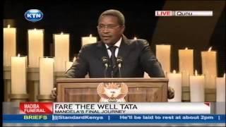 vuclip President Jakaya Kikwete's full speech at Nelson Mandela's funeral