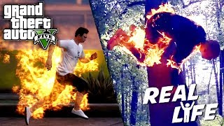 GTA 5 VS REAL LIFE 8 ! (fun, fail, stunt, ...)