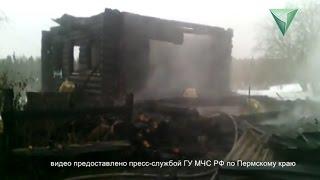 Пожар в Кочевском районе 14 октября 2015 г.
