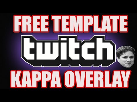 Twitch TV Stream Overlay KAPPA GREEN TEMPLATE  [PSD] : Free download
