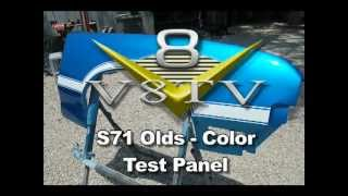 Olds S71: Test Panel Sprayout - V8TV-Video