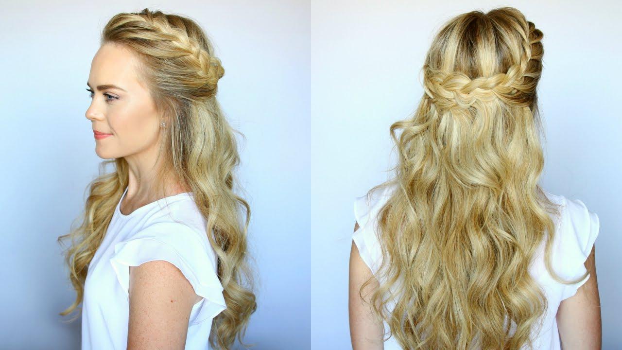 Half Up French Braid Crown | Missy Sue - YouTube